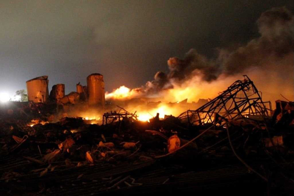 An explosion occurred in a fertilizer storage facility in Waco, Texas, that killed and severely injured over 100 emergency responders.
